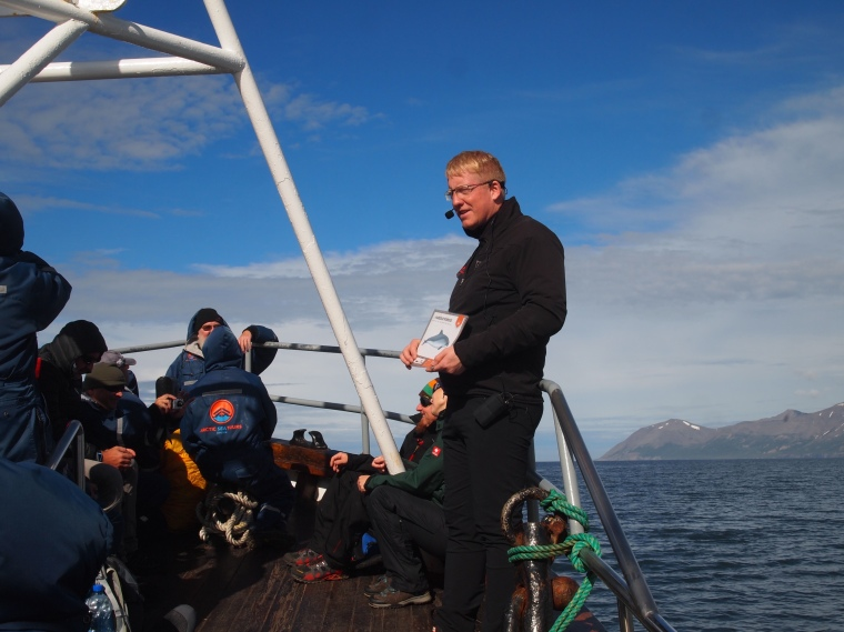 our boat captain from Arctic Sea Tours
