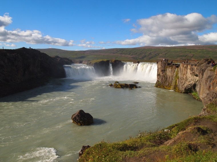 first view of Goðafoss