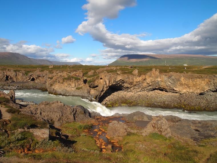 downstream from Goðafoss