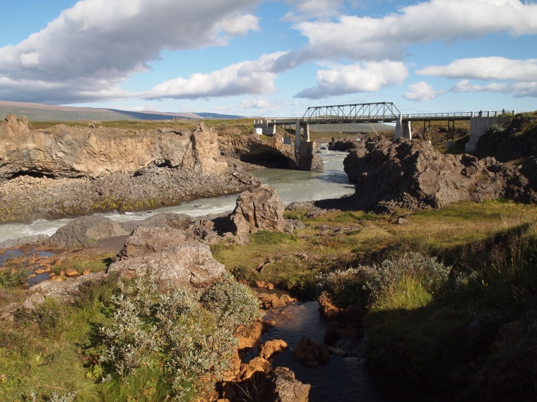 bridge downstream from Goðafoss