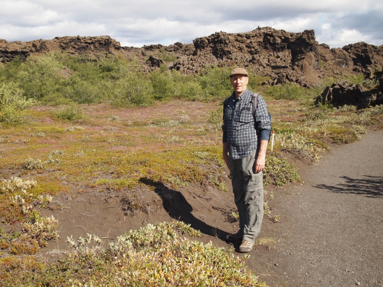 Mike at Dimmuborgir