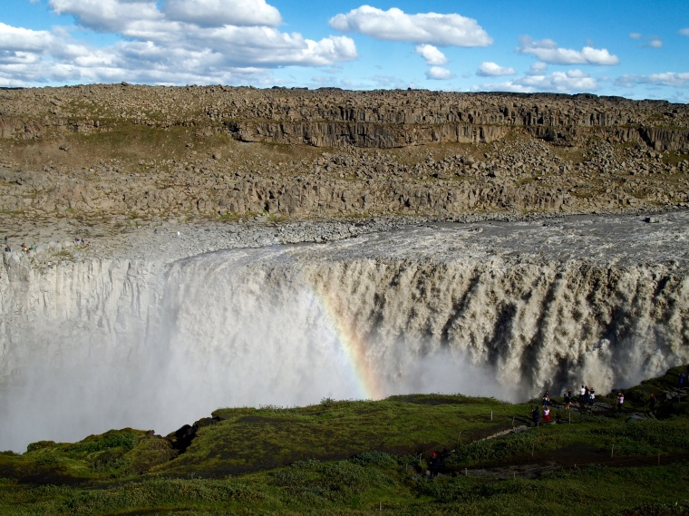 rainbow at Dettifoss