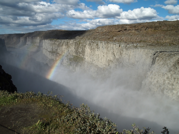 rainbow downstream from Dettifoss