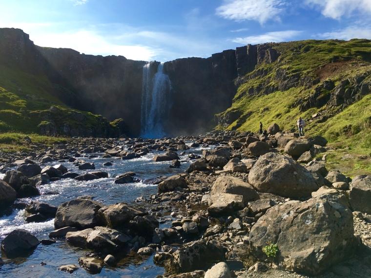 Fjarðará waterfall