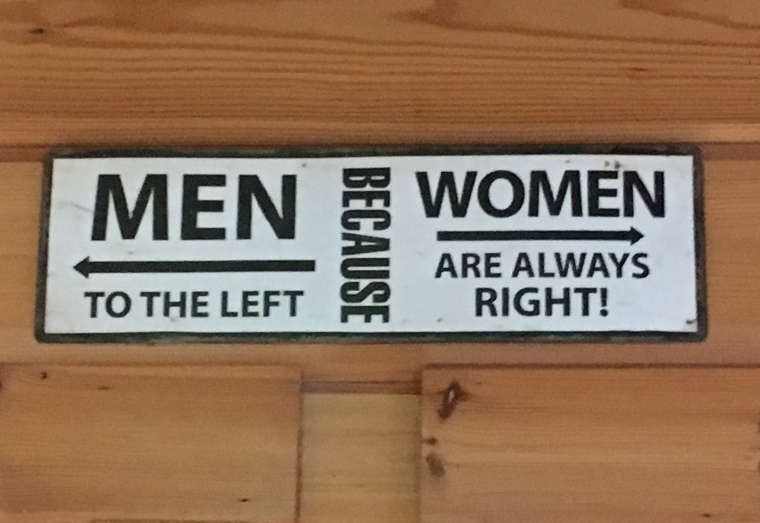 a great sign at Kaffi Hornið