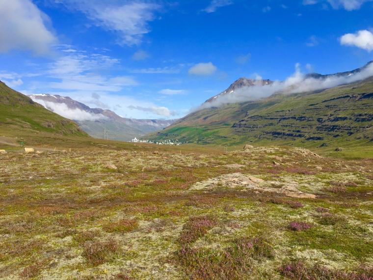 view toward Seyðisfjörður