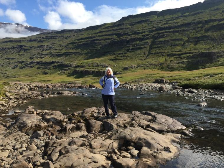 me on the river Fjarðará