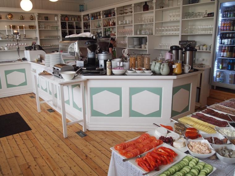 The breakfast spread at Hotel Aldan