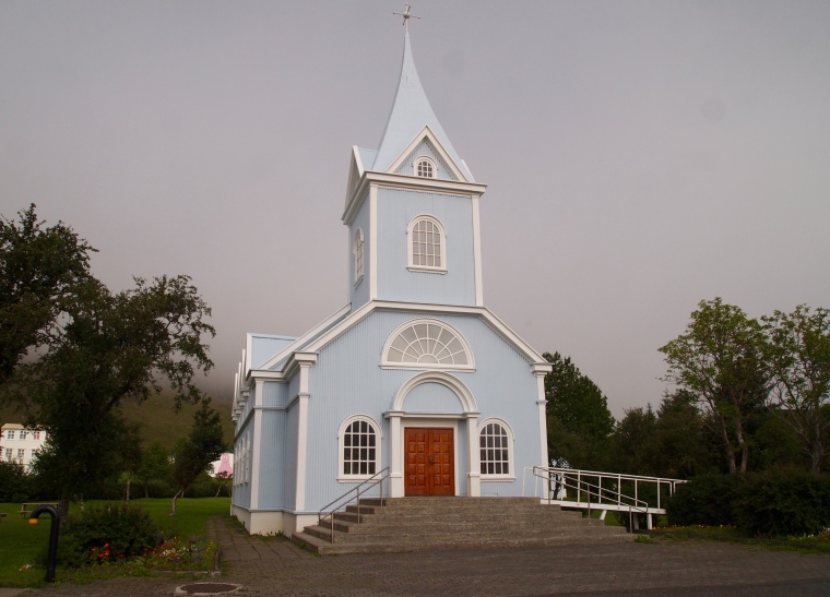 Bláakirkja, The Blue Church
