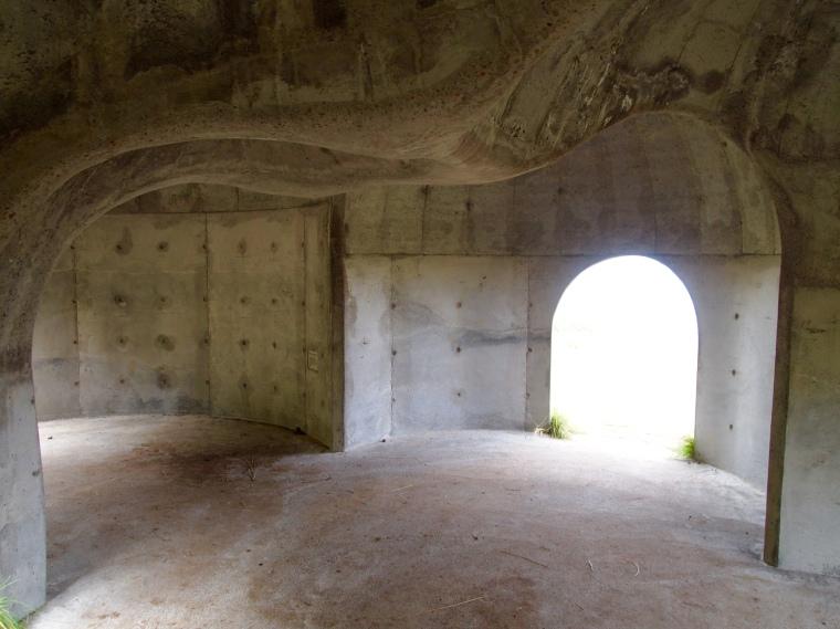 inside Tvisongur sound sculpture