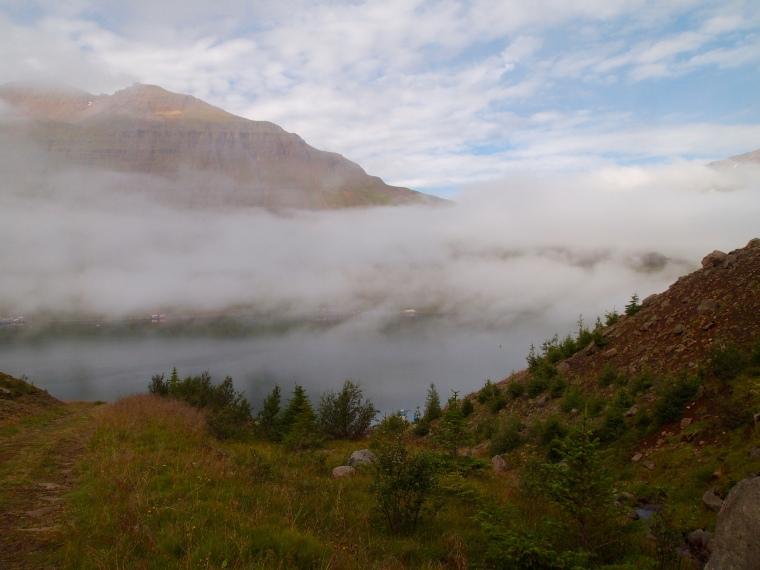 hike back down to Seyðisfjörður