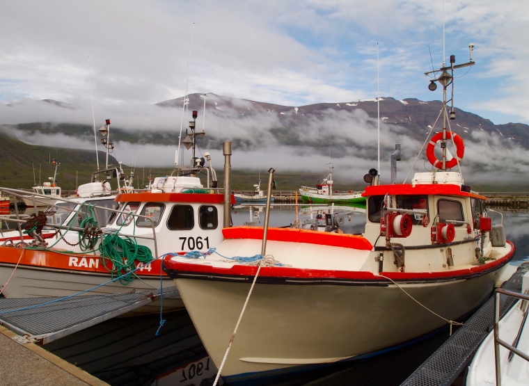 boats in Seyðisfjörður