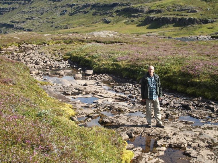 Mike at the river Fjarðará