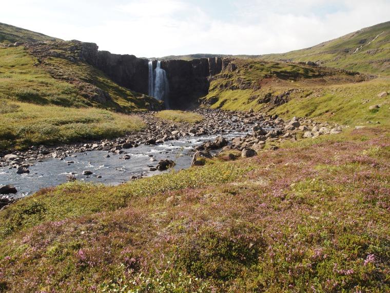 waterfall in Fjarðará