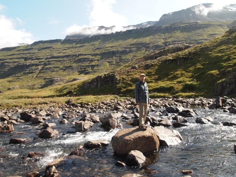 Mike at Fjarðará
