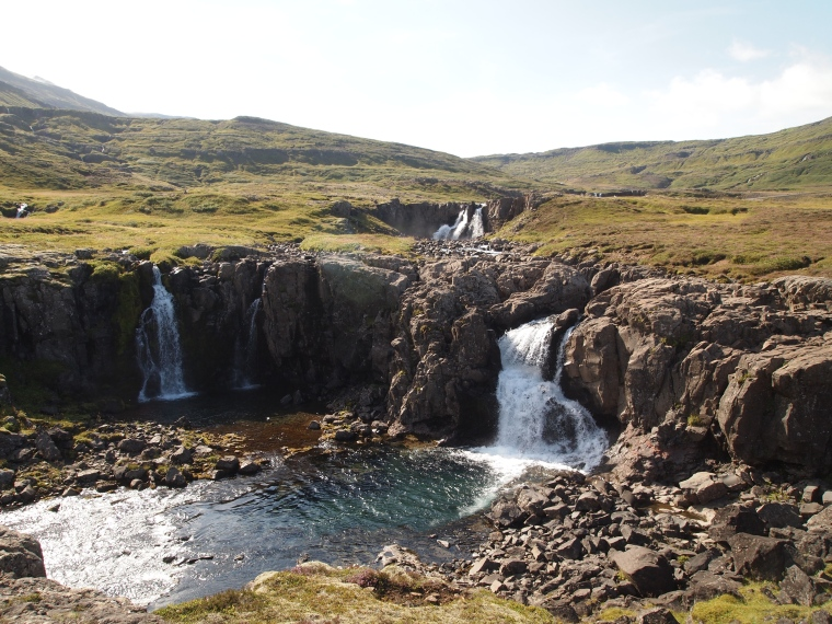 waterfall at Fjarðará