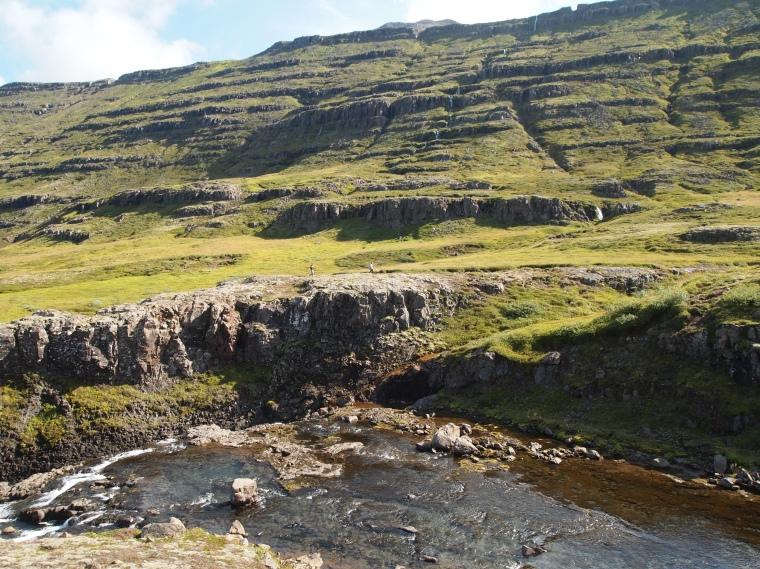 waterfall at Fjarðará