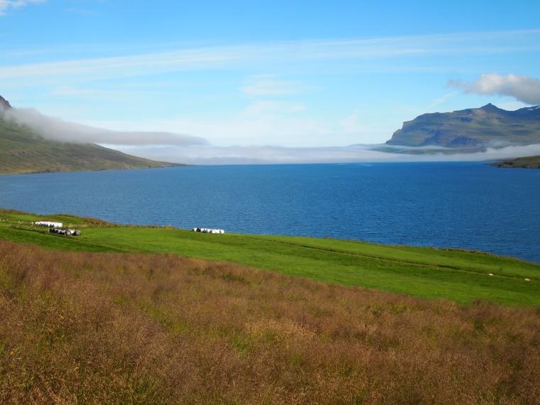 Seyðisfjörður opening to the North Atlantic Ocean