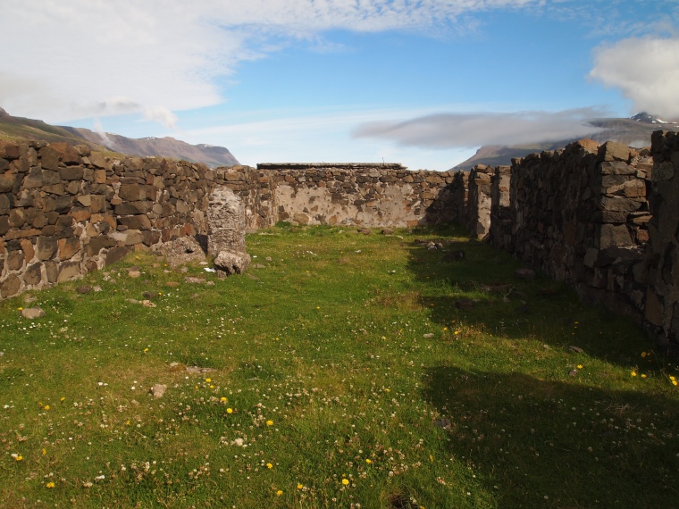 ruins in the Vestdalur Valley