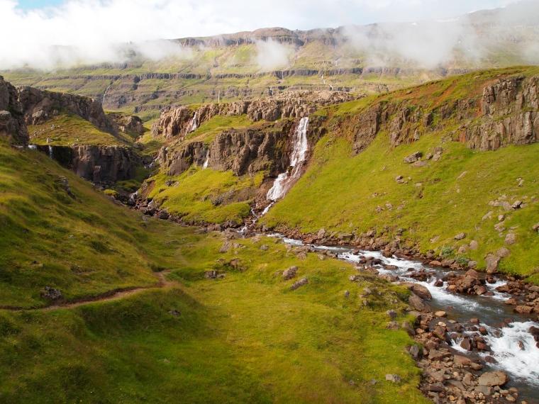waterfalls on the Vestdalá river