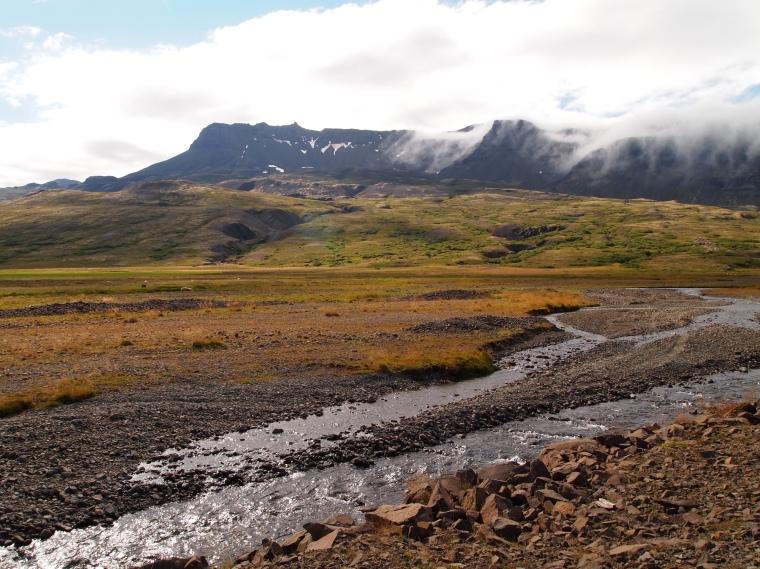 a river runs through Breiðdalur