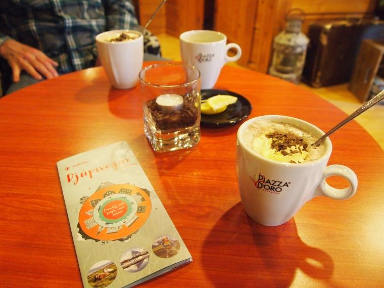Hot chocolate at Hotel Framtíð