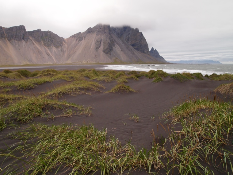 view of Vestrahorn from Stokksnes
