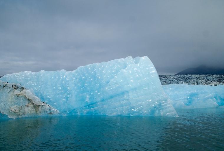 blue glaciers at Jökulsárlón Glacier Lagoon