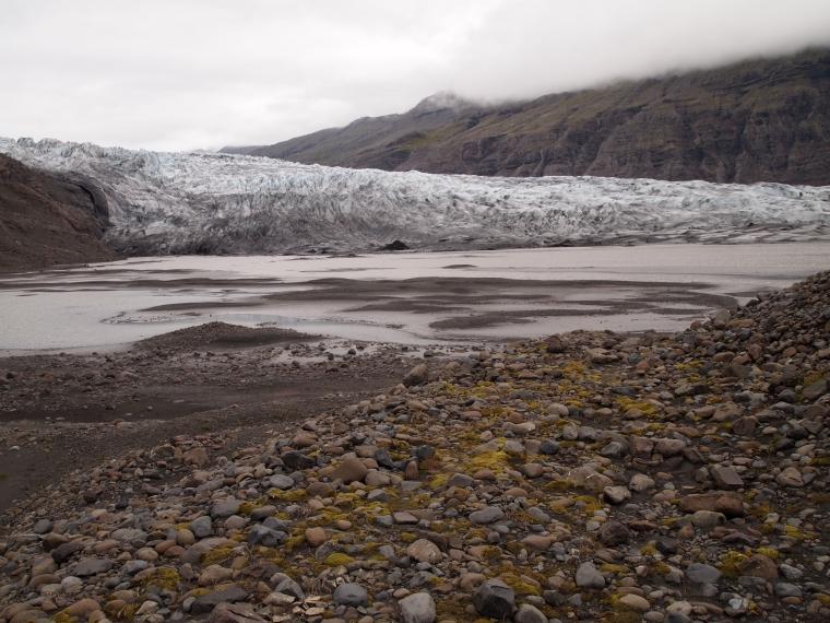 Fláajökull glacier tongue
