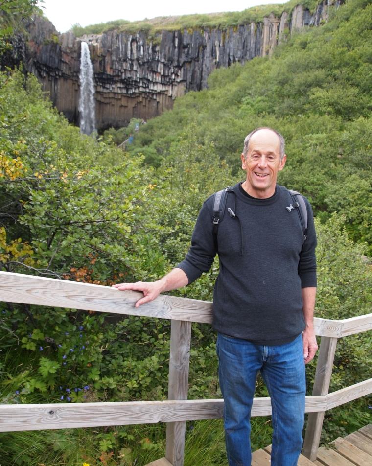 Mike at Svartifoss