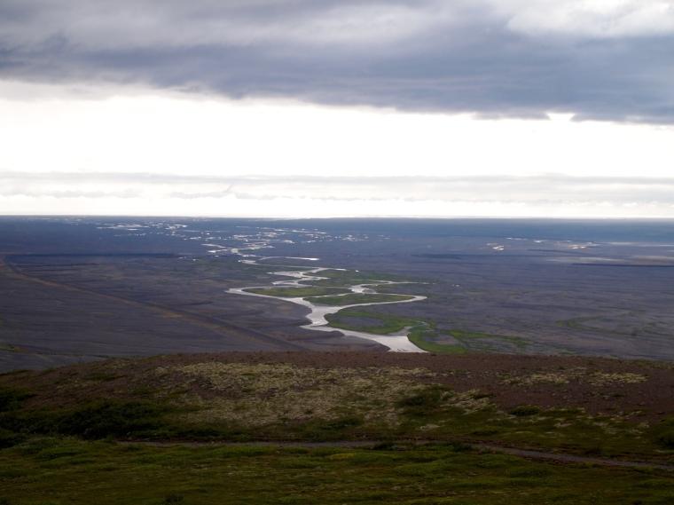 view from Sjónarsker to Skeiðarársandur