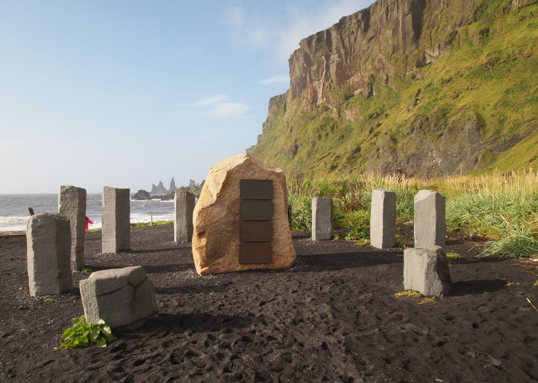 Monument in Vik