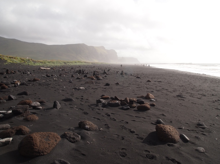 the beach at Vik