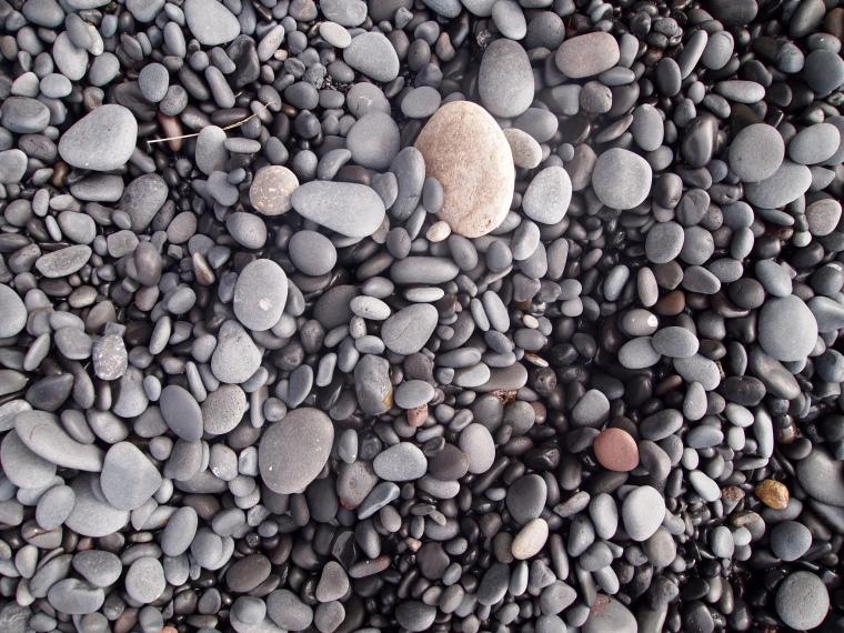 black pebble beach of Reynisfjara