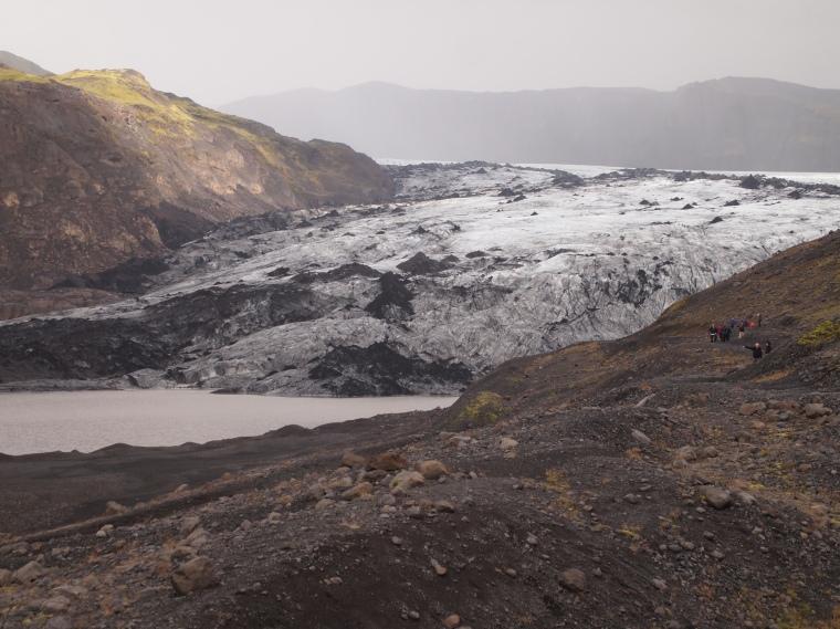 Sólheimajökull glacier tongue