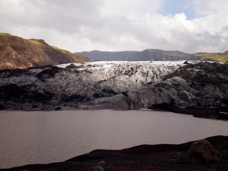 backlit glacier