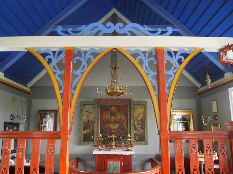 Inside Skógar Church