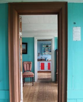 through the doorways