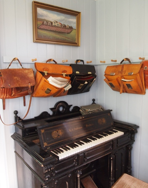satchels inside the Old Schoohouse