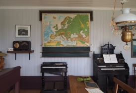 map in the Old Schoolhouse