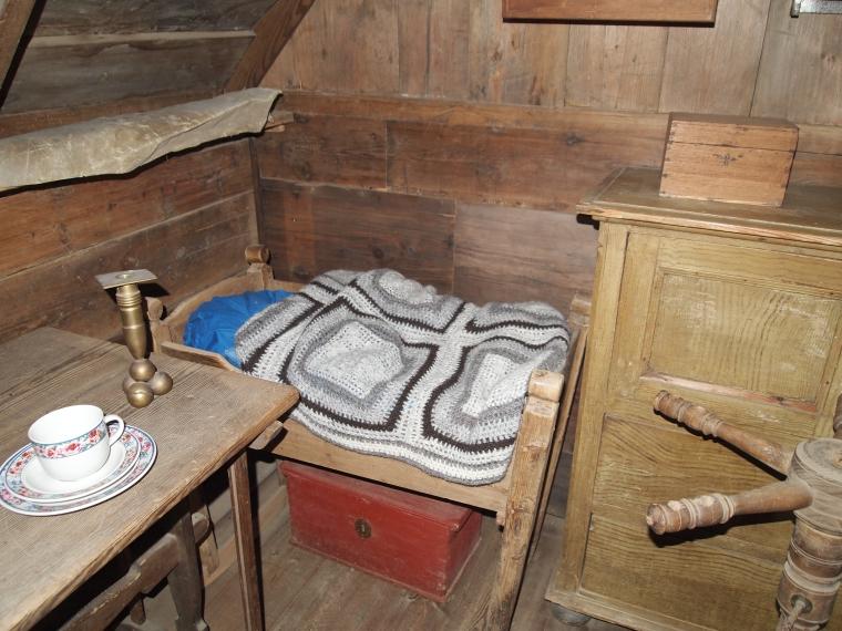 bedroom inside the Turf Farm
