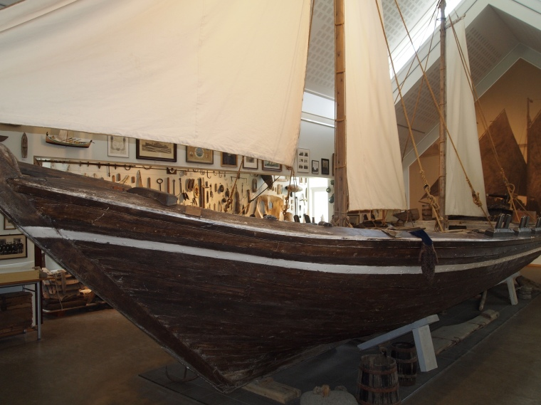 The fishing-boat Pétursey in the Maritime Hall