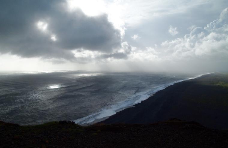 looking west from Dyrhólaey