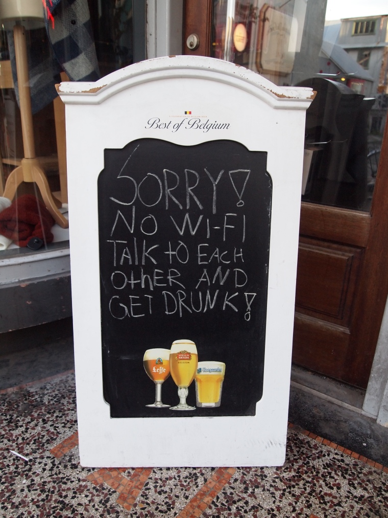 SORRY NO WIFI - TALK TO EACH OTHER & GET DRUNK!