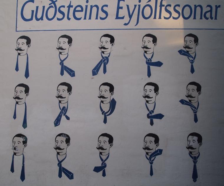 tying a necktie