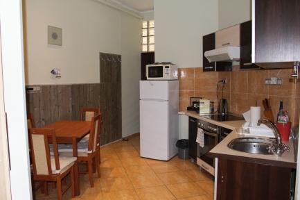 kitchen at Charlie's Budapest