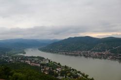 views of the Danube from Fellegvár