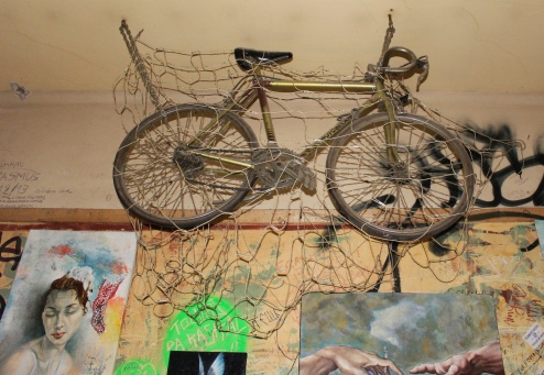 bicycle on the ceiling