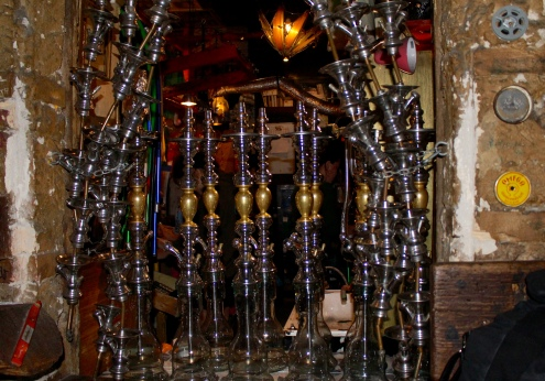 hookah pipes at Szimpla Kert