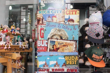 vintage Budapest signs